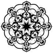 Black oriental ottoman design thirty-two — Stock Vector