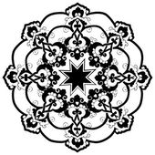 Black oriental ottoman design thirty-two — 图库矢量图片