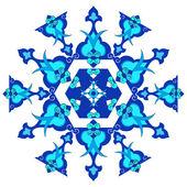 синий восточные османская дизайн тридцать версия — Cтоковый вектор
