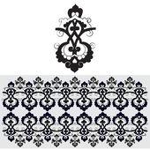 Black oriental ottoman design thirty-one — Stock Vector