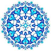 Blue oriental ottoman design twenty-eight — Stock Vector