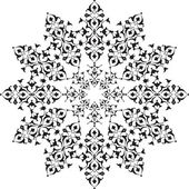 Black oriental ottoman design thirty-five — Stock Vector