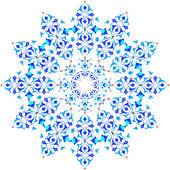 Blue oriental ottoman design thirty-five — Stock Vector