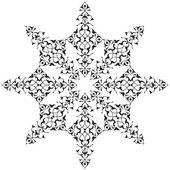 черный восточный османская дизайн тридцать семь — Cтоковый вектор