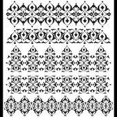 Oriental border and ornament eighteen — Stock Vector