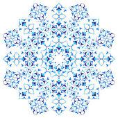 Blue oriental ottoman design thirty eight — Stock Vector