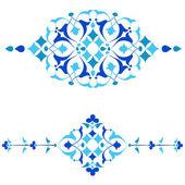 Ottomaanse motieven blauw ontwerp serie van vijftig four.ai — Stockvector