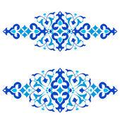 Ottomaanse motieven blauw ontwerp serie van vijftig drie — Stockvector