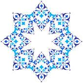 Ottomaanse motieven blauw ontwerp serie van vijfenvijftig versie — Stockvector