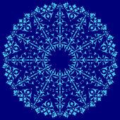 Blauwe oosterse ottomaanse ontwerpen vierendertig — Stockvector