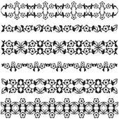 Ottoman motifs black design series of fifty seven — Stock Vector