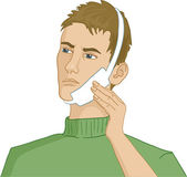 Man having teeth pain — Vector de stock