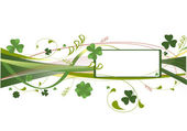 Background with clover — Stock Vector