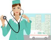 Nurse — Stock Vector