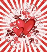 情人节卡片用的心 — 图库矢量图片