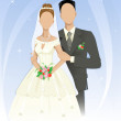 Template of wedding couple — Stock Vector