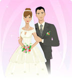Wedding couple — Stock vektor