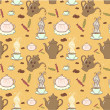 Seamless coffee pattern — Stock vektor