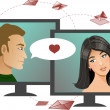 Stock Vector: Internet dating