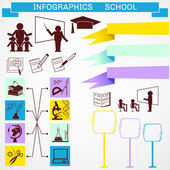 Education infographics — Stock Vector
