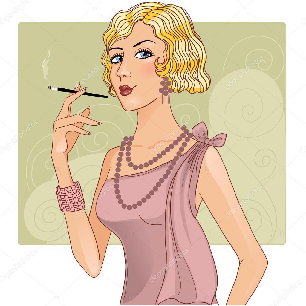 Симпатичные девушки с сигаретой 7 фотография