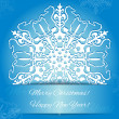 Background with snowflake with horse, symbol of 2014 new year — Stock Vector