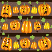 Seamless pattern for Halloween with pumpkins — Stock Vector