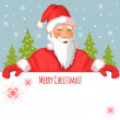 Santa Claus with Christmas greetings, eps10 — Stock Vector