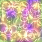抽象现代背景下带有荧光的同心圆,eps10 — 图库矢量图片