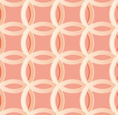 Seamless light red pattern with circles, EPS10 — Stock Vector