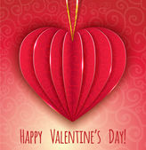 Decorative paper red heart for Valentines Day, eps10 — Stockvector