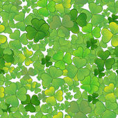Seamless background with clovers, EPS10 — Stock Vector