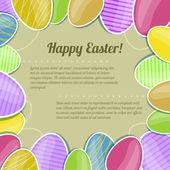 Carte décorative avec des oeufs de pâques colorés, eps10 — Vecteur