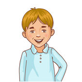 Teenager cartoon boy with blond hair — Stock Vector