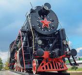 Old steam locomotive — Stock Photo