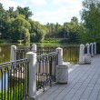 Observation deck at the pond — Stock Photo