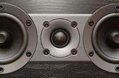 Black loudspeaker — Stock Photo