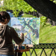 Street painter — Stock Photo