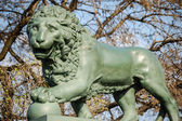 Bronze lion — Stock Photo