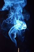 Smoke on black background — Foto Stock