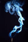 Kouř na černém pozadí — Stock fotografie