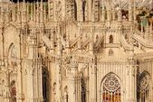 The most famous building in the city of Italy -duomo Milano — Stock Photo