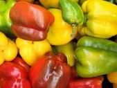 Mix of fresh peppers — Stock Photo