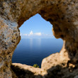 Horizon of the sea through the rock — Stock Photo