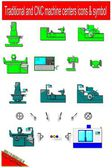 Machine centers — Stock Vector