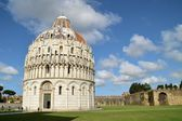 Baptistery of St. John - Square of Miracles - (Pisa) — Stock Photo