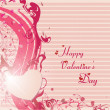 Happy valentines day and wedding cards - 图库矢量图片