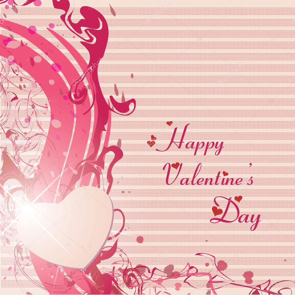 Happy valentines day and wedding cards  Stock Vector #20088403