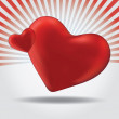 Illustration with a red valentine heart — Image vectorielle