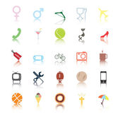 Social icons. interests. — Stock Vector
